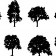 Tree Set — Stockvectorbeeld