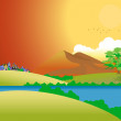 Vector de stock : Landscape