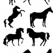 Stock Vector: Horse Set