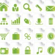 Stock Vector: Green Icon Set