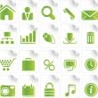 Green Icon Set — Stock Vector