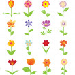 Stock Vector: Flowers Set