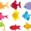 Royalty-Free Stock Imagen vectorial: Fish Set