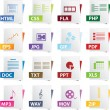 Stok Vektör: File Icon Set