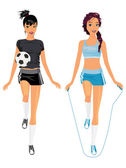 Sporting girls — Stock Vector
