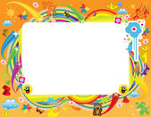 Kids Frame — Stock Vector