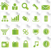 Green Icon Set — Stockvektor