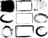 Conjunto de grunge — Vector de stock