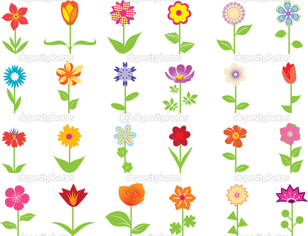 Flowers Set — Stock Vector #1979776