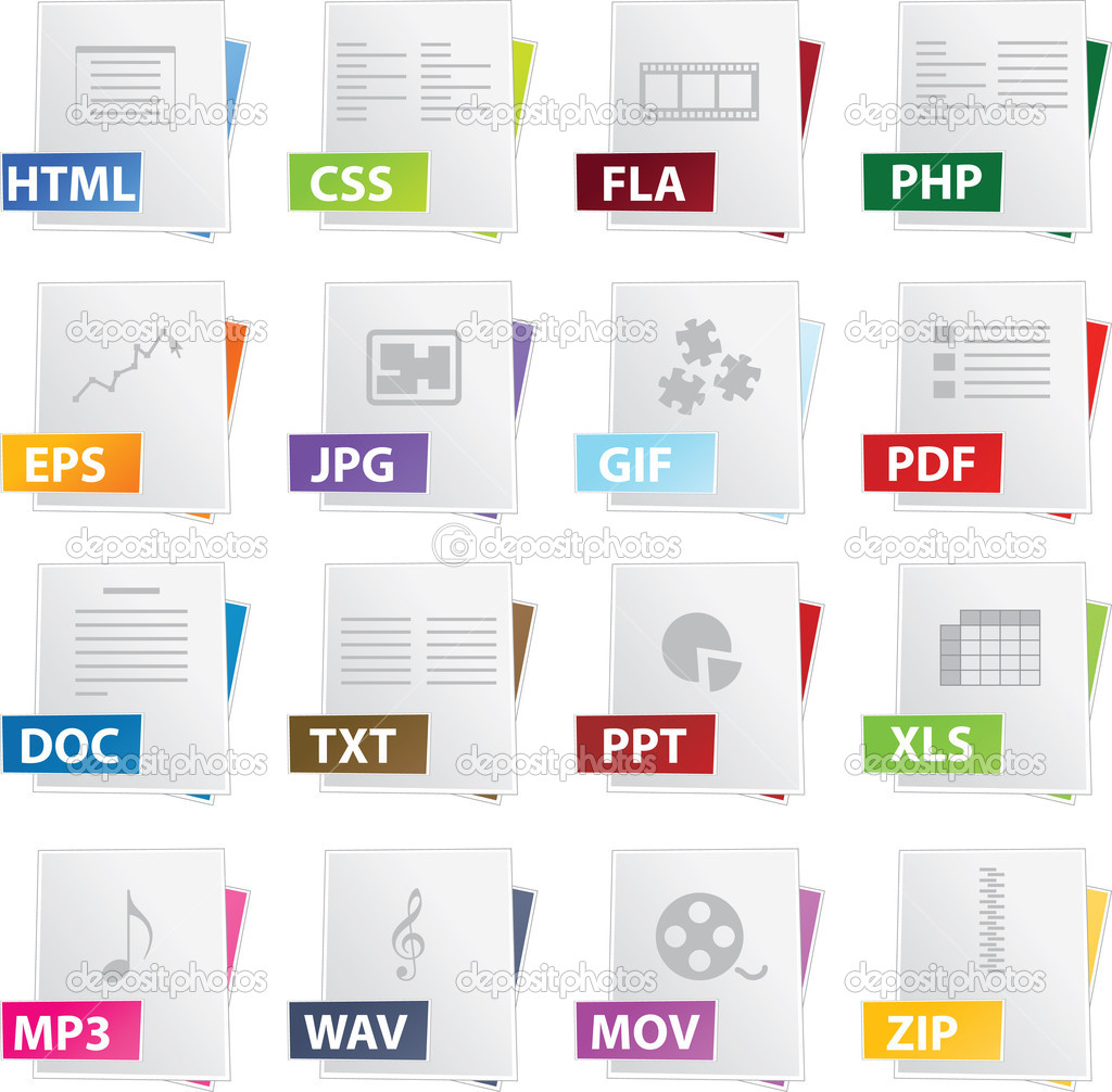 File Icon Set — Stock Vector #1979972