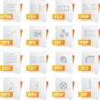 File Icon Set - Stockvektor