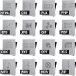 File Icon Set - Stock Vector