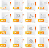 File Icon Set — Stock Vector