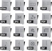 Datei-icon-set — Stockvektor