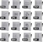 Jeu d'icônes de fichier — Vecteur