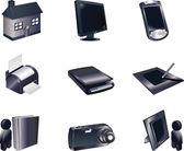 Conjunto de iconos 3d — Vector de stock