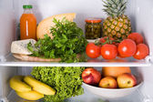 Inside the refrigerator — Stock Photo