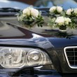 Decorated wedding car — Stock Photo