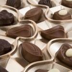 scatola di cioccolato — Foto Stock