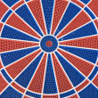 Blue and red dart board — Stock Photo