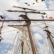 Rigging of big sailing ship — Stock Photo #2009970