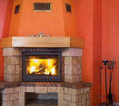 Cosy fireplace — 图库照片