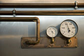 Two metres with pipes — Stock Photo