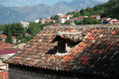 Old rooftiles on the old house — Stock Photo