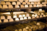 Golden bars — Stock Photo