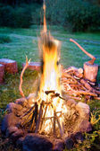 Cosy fire — Stockfoto