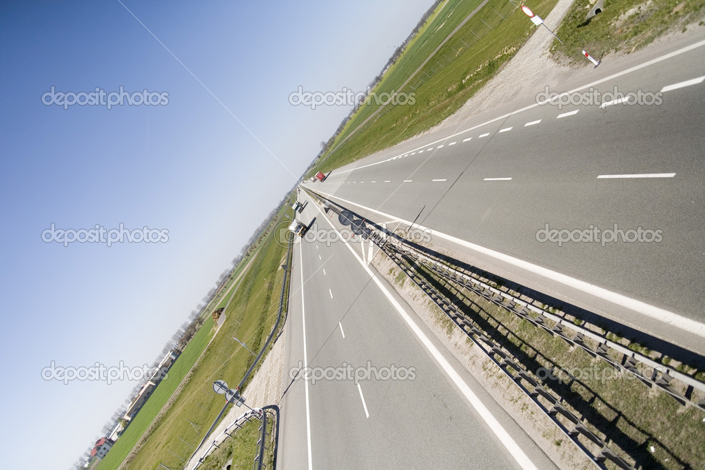 Highway Berlin - Warsaw - the part near Poznan (Poland)  Stock Photo #2004739