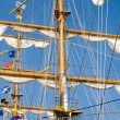 Rigging of big sailing ship — Stock Photo #2016375