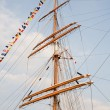 Rigging of big sailing ship — Stock Photo #2016855