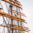 Rigging of big sailing ship — Stock Photo #2017103