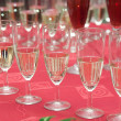 Champaign glasses on wedding party — Stock Photo #2020019