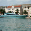 Stock Photo: Blue yacht