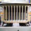 Front of old american jeep — Stock Photo