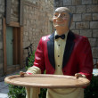 Stock Photo: Wooden waiter
