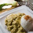 Chicken and rice in curry spice — Stock Photo