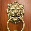Door knocker on the doors with small depth of fi - Stock Photo