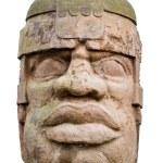 Ancient olmec head — Stock Photo