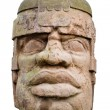 Stock Photo: Ancient olmec head