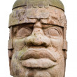 Ancient olmec head — Stock Photo