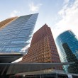Modern buildings at potsdamer platz in Berlin - Stock Photo
