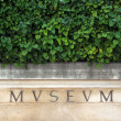 Museum inscription - Stock Photo