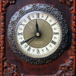 Old wooden clock — Foto de Stock
