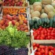 Fruit and vegetable market — Stock Photo
