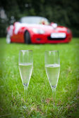 Two champaign glasses — Stockfoto