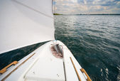Moje malé soukromé jachty - plachtění na jezeře — Stock fotografie
