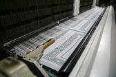 Working cotton loom — Stock Photo